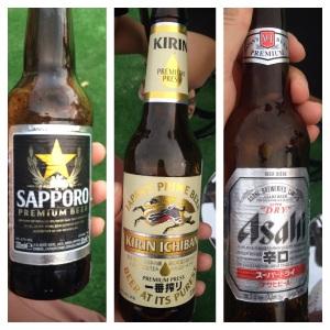 Cervezas japonesas de importacion.Deliciosas