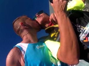Un Beso sobre la alfombra azul. Maraton Valencia