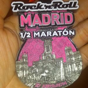 Medalla Medio Maraton.